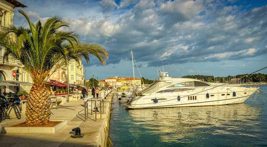A seafront promenade in Porec Croatia