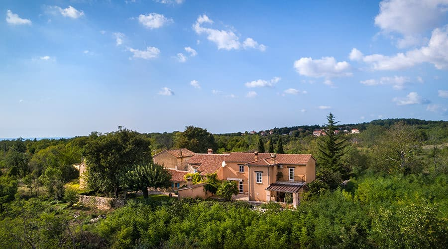 Villa in Istria | Villa Rupeni: Bird's Eye View From The Back Of The House