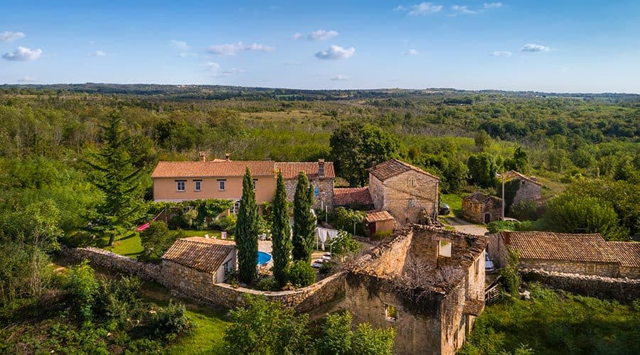 Villa in Istria | Villa Rupeni: Bird's Eye View From The Front Of The House