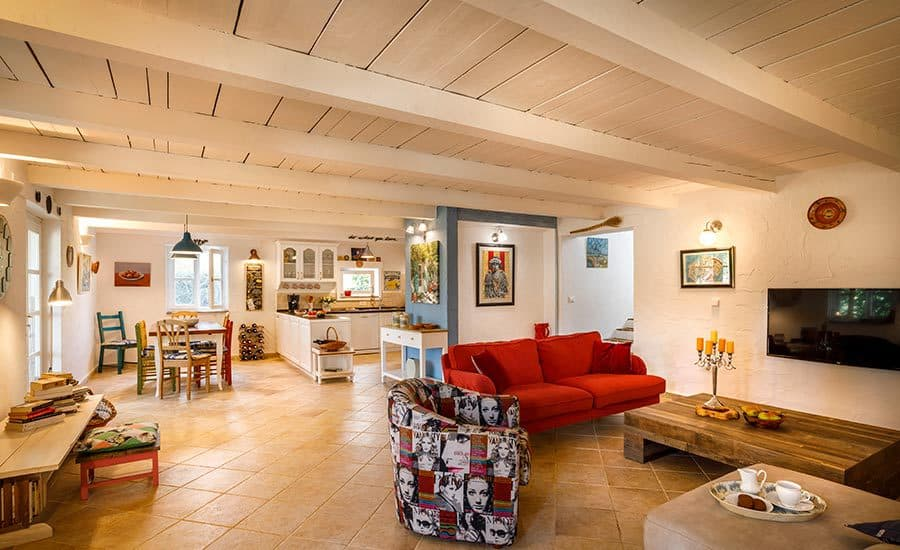Villa in Istria | Villa Rupeni Istria: Open Plan Living Room