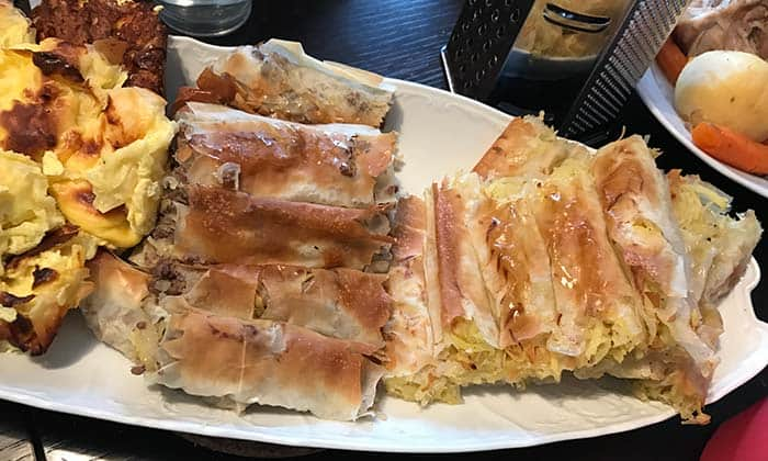 Various types of burek, popular food in Croatia