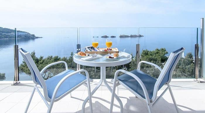 Hotel Ariston Dubrovnik, terrace with a sea view