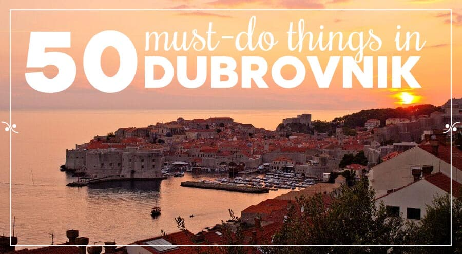 Dubrovnik old town at twilight, illustration, what to do in Dubrovnik