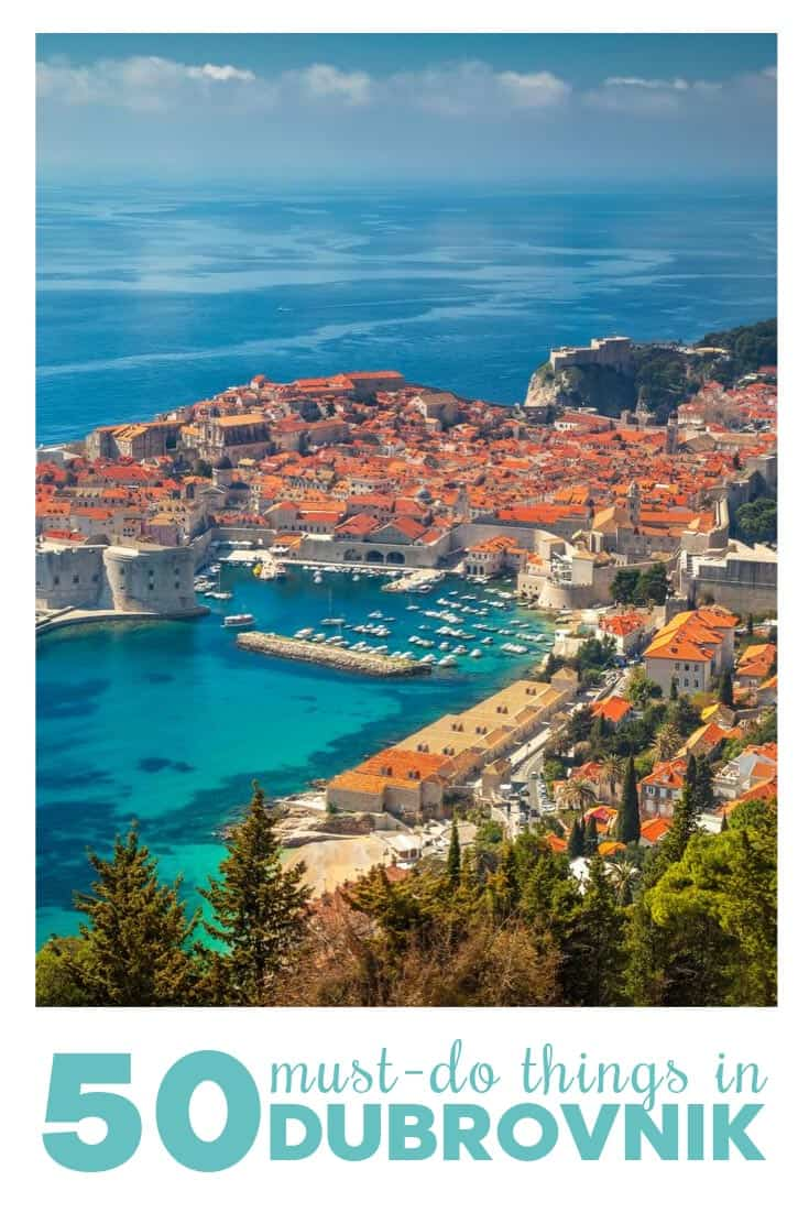 Things to do in Dubrovnik, Illustration for Pinterest