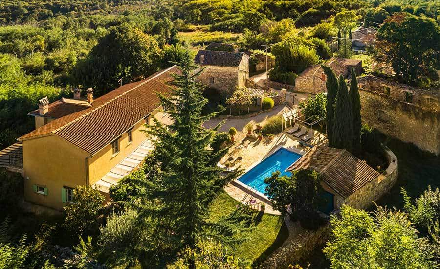 Villa in Istria | Villa Rupeni: Bird's Eye View From The Side Of The House