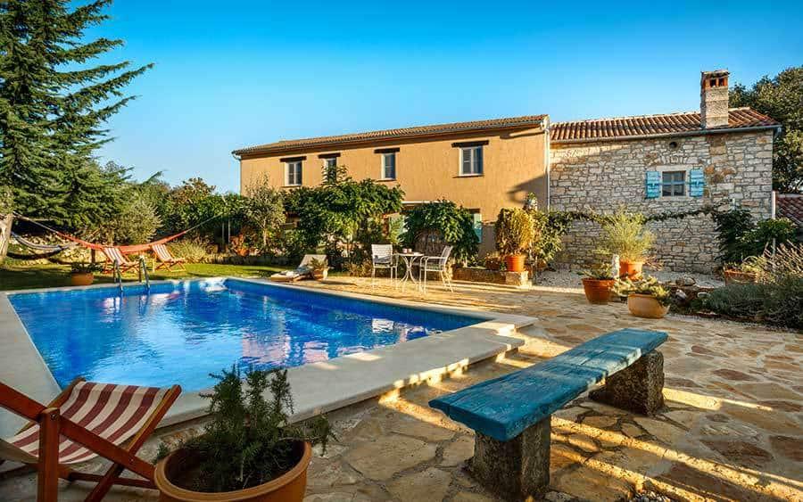 Villa in Istria | Villa Rupeni: Swimming Pool and Garden