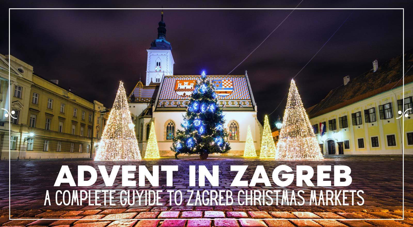 Zagreb Christmas Market Advent In Zagreb, Illustration
