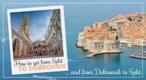 How to get from Split to Dubrovnik and from Dubrovnik to Split