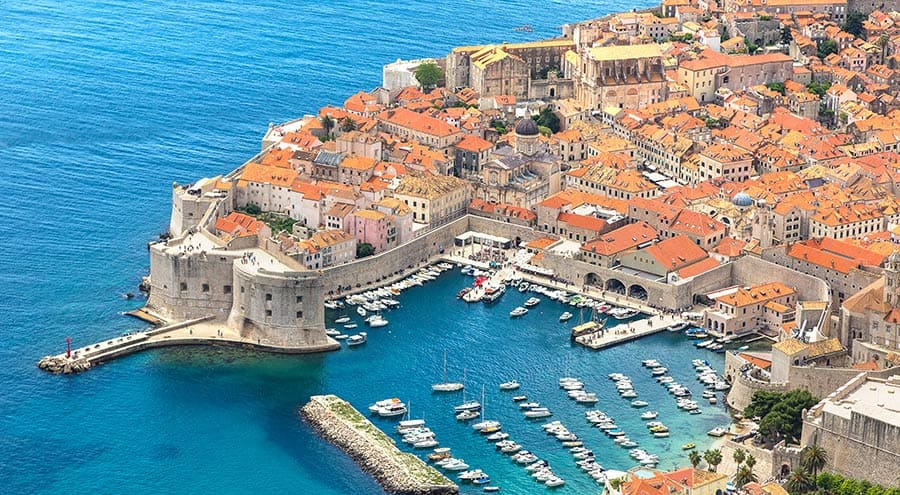 Dubrovnik Old Town, Air View
