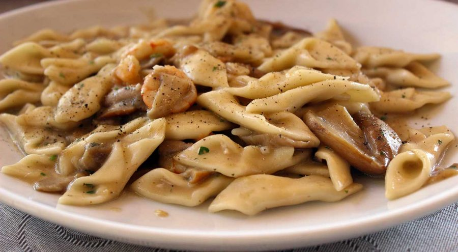 Croatian cuisine: Fuzi, a typical hand-rolled pasta from Istria