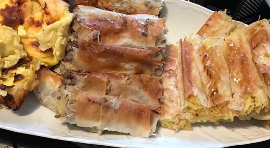 Various types of burek, popular food in Croatia