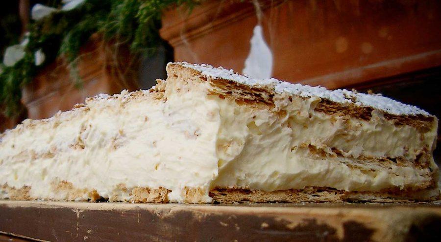 Krempita, vanilla slices, popular dessert in Croatia