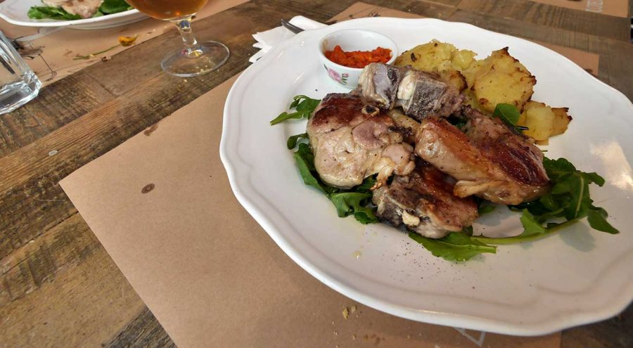 A plate of grilled meat, Uje Oil Bar in Split