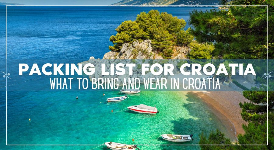 Packing List For Vacation In Croatia: What to bring and wear in Croatia, Illustration