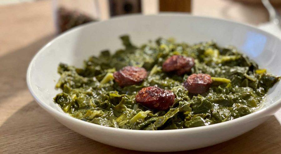 Rastika, collard greens, very popular dish in Croatia