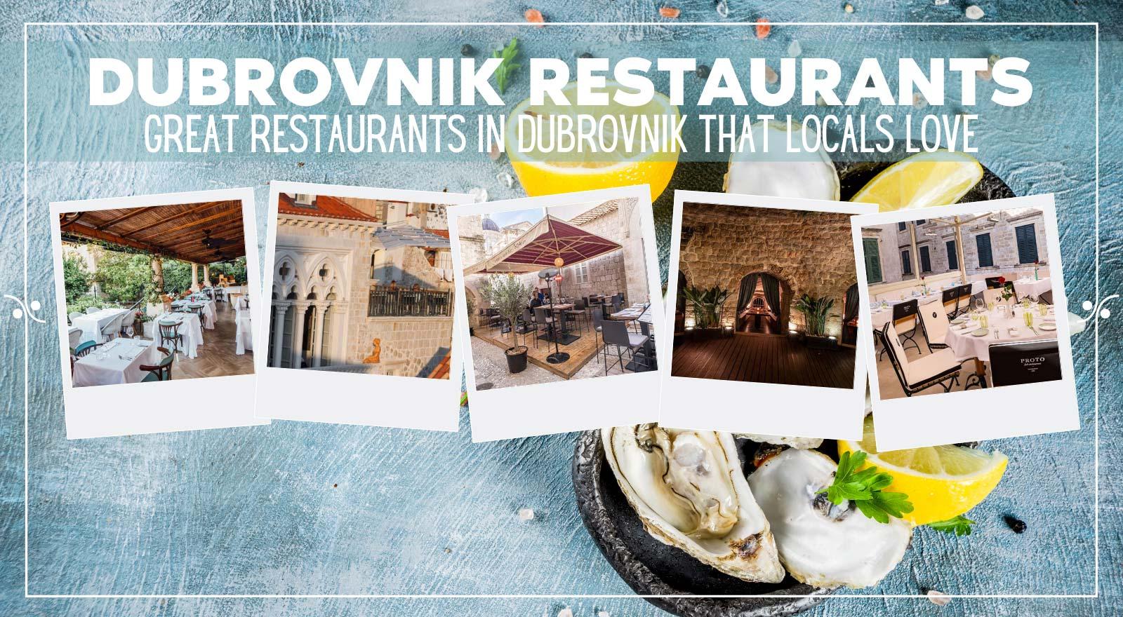 Best Restaurants In Dubrovnik Croatia: Where To Eat In Dubrovnik, Illustration