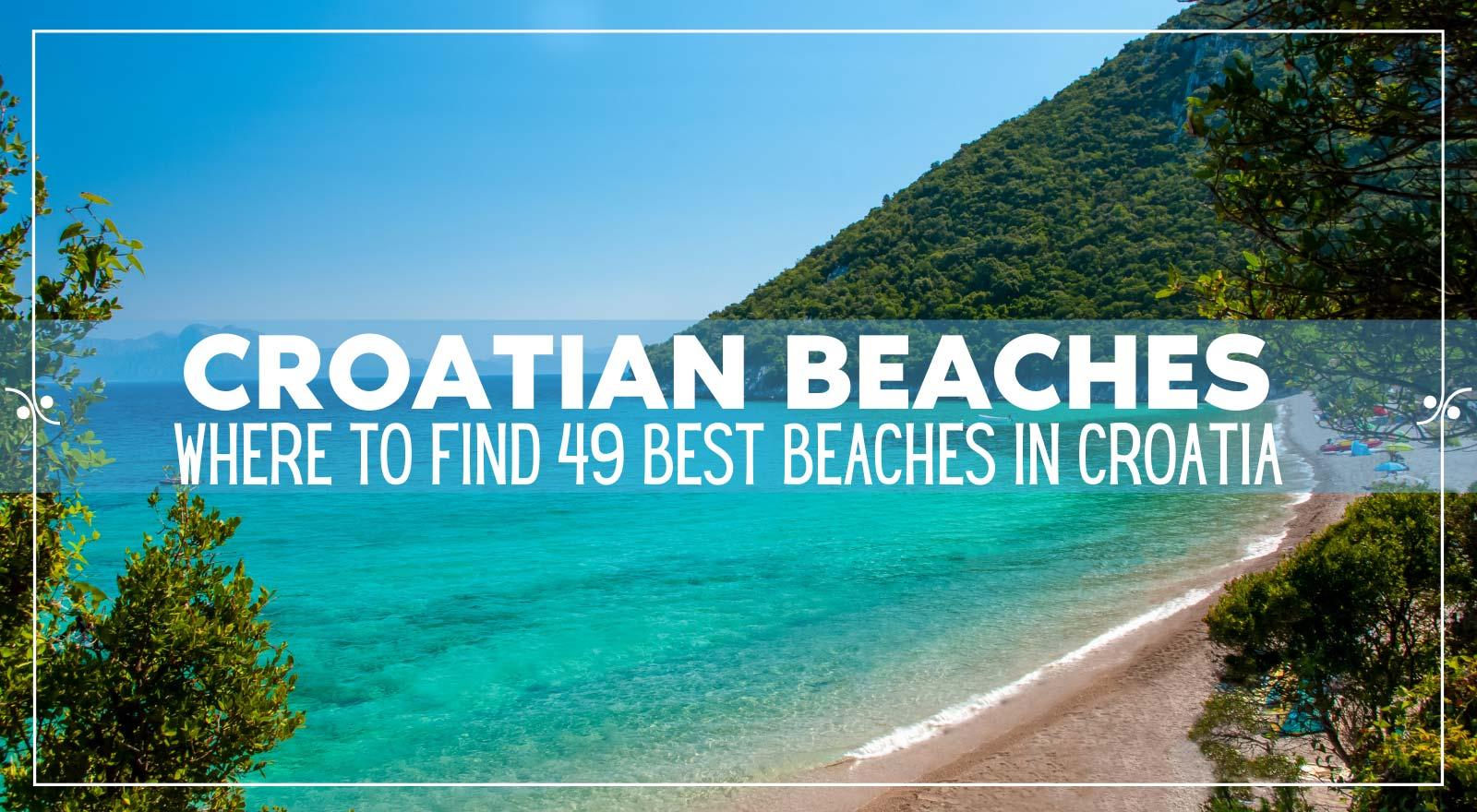 Best Beaches in Croatia | Croatian Beaches Guide, Illustration