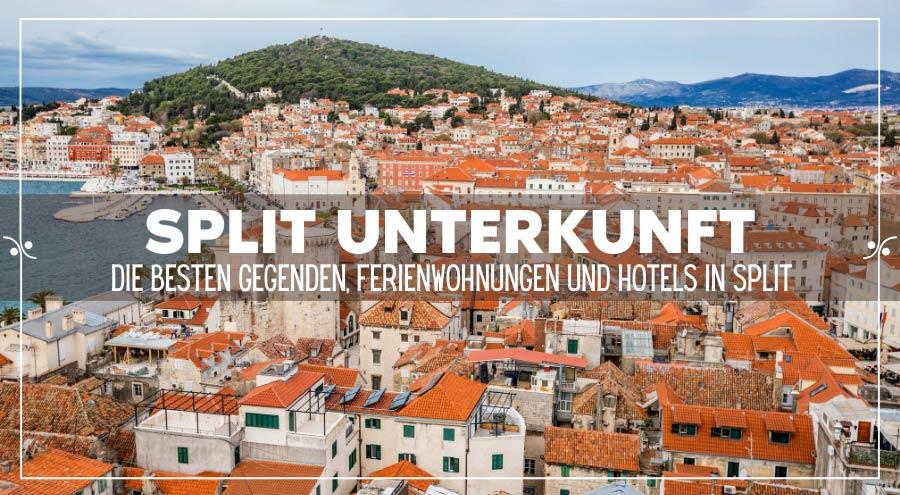 Split Unterkunft: Die besten Gegenden, Ferienwohnungen und Hotels in Split, Illustration