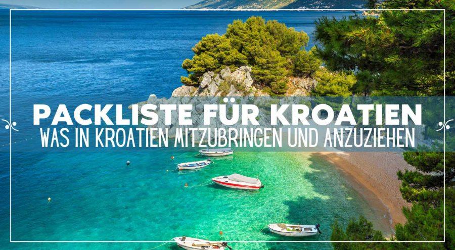 Packliste Kroatien: Was sollten Sie für Ihren Urlaub in Kroatien einpacken, Illustration