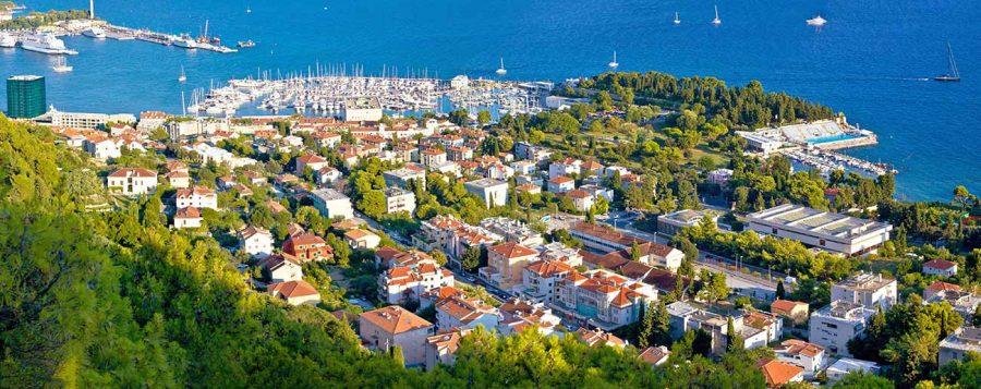 Meje, Split's neighborhood from the air