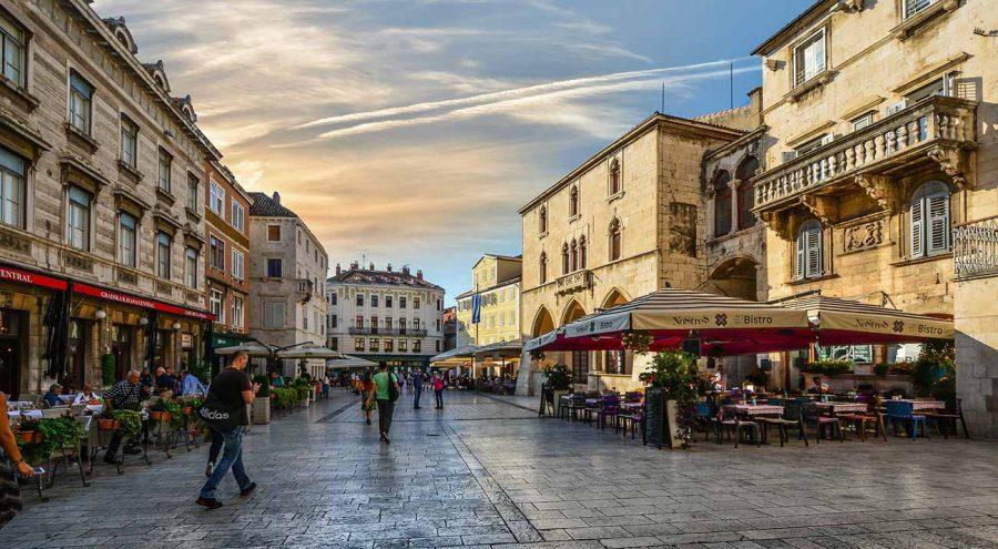 People's Square in Split old town