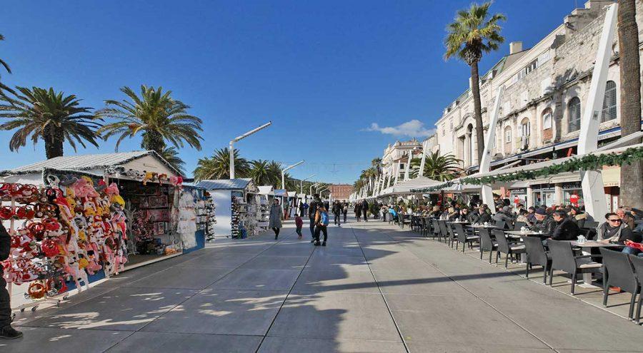 Riva in Split, Croatia