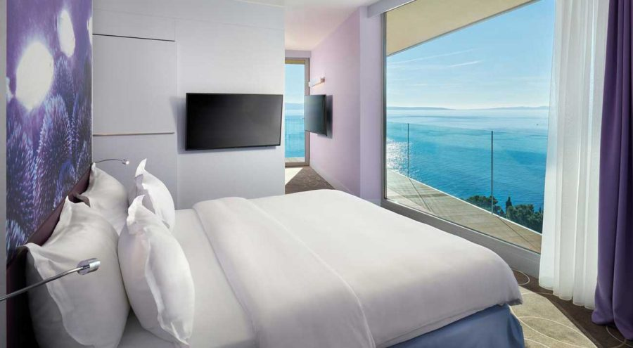 Radisson Blu Split, sea-facing room