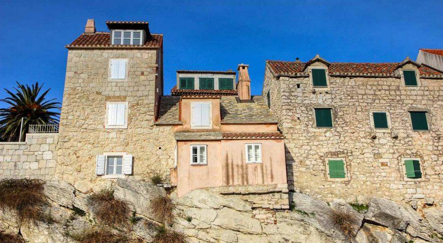 Houses in Veli Varos neighbourhood in Split, Croatia