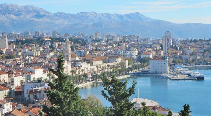 View from Vidilica on the Marjan Hill over Split